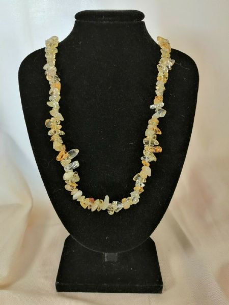 "Citrine Chip Necklace 16"" to 34"", Long Necklace, Short Necklace"